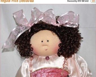 """Little Souls Doll, Little Souls Swanky, Little Souls Marcella 24"""", Gretchen Wilson, Cloth Dolls, One-Of-A-Kind, Dolly Mama, Ooak"""