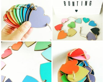 Micro rainbow wooden bunting