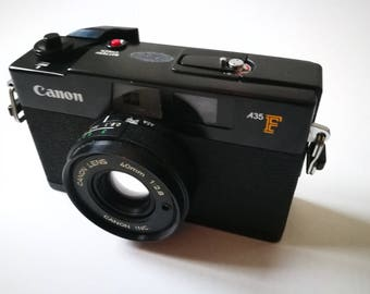 Canon A35 F with New Light Seals. Vintage Ready-To-Use 1970s Auto-Exposure Rangefinder Camera, Defective Flash