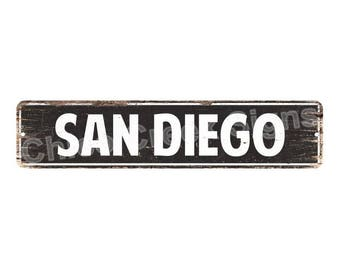 SAN DIEGO Street Plate Sign Bar Store Shop Cafe Home Kitchen Chic 4180035
