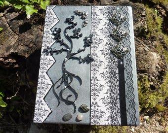 box jewelry or treasure Gothic, dark, tree, bats