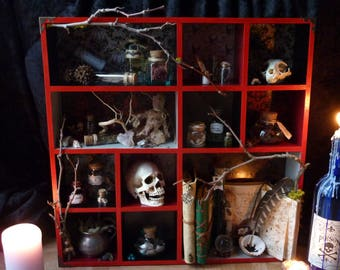 "shelf ""spells and enchantments"" Witch Witchcraft"