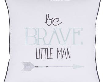 Be Brave Little Man Decorative Pillow Cover For Friends Throw Pillow Embroidered Cushion Cover