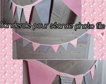 Banner of pennants 11 to 13 pennants / decoration / children's room / photo sessions