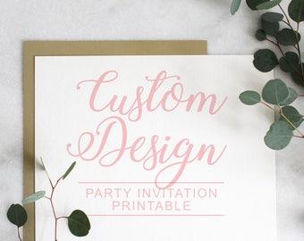 Custom Designed Invitations