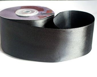 1 m 40mm black satin ribbon