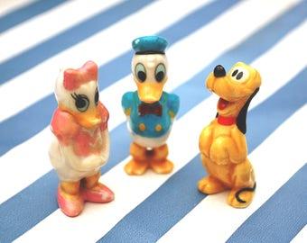 Vintage Disney Ceramic Figures - Daffy & Daisy Duck and Pluto