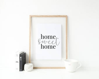 Home sweet home Minimalist Typography print