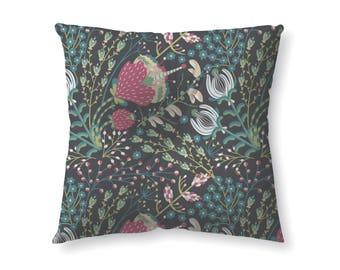 Navy Forest Botanic- floor pillow