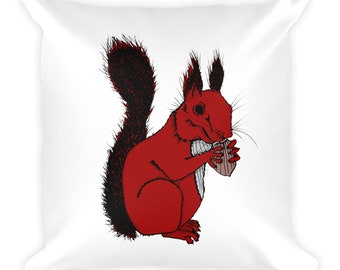 It's My Nut! - Squirrel Square Pillow