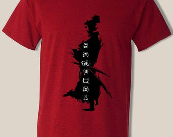 Samurai t shirt, cool design, For Men