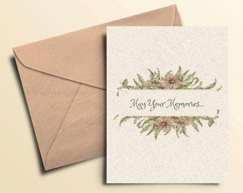 May Your Memories Sympathy Cards