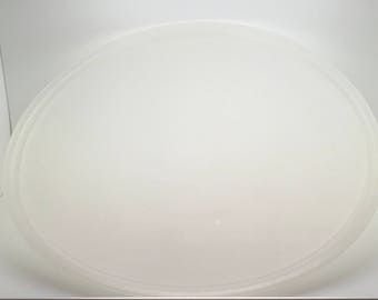 Tupperware 224 Sheer Clear Lid  Fits Large Fix & Mix Bowl Round Cake Taker Pie Keeper Handolier Divided Party Tray  Replacement Cover