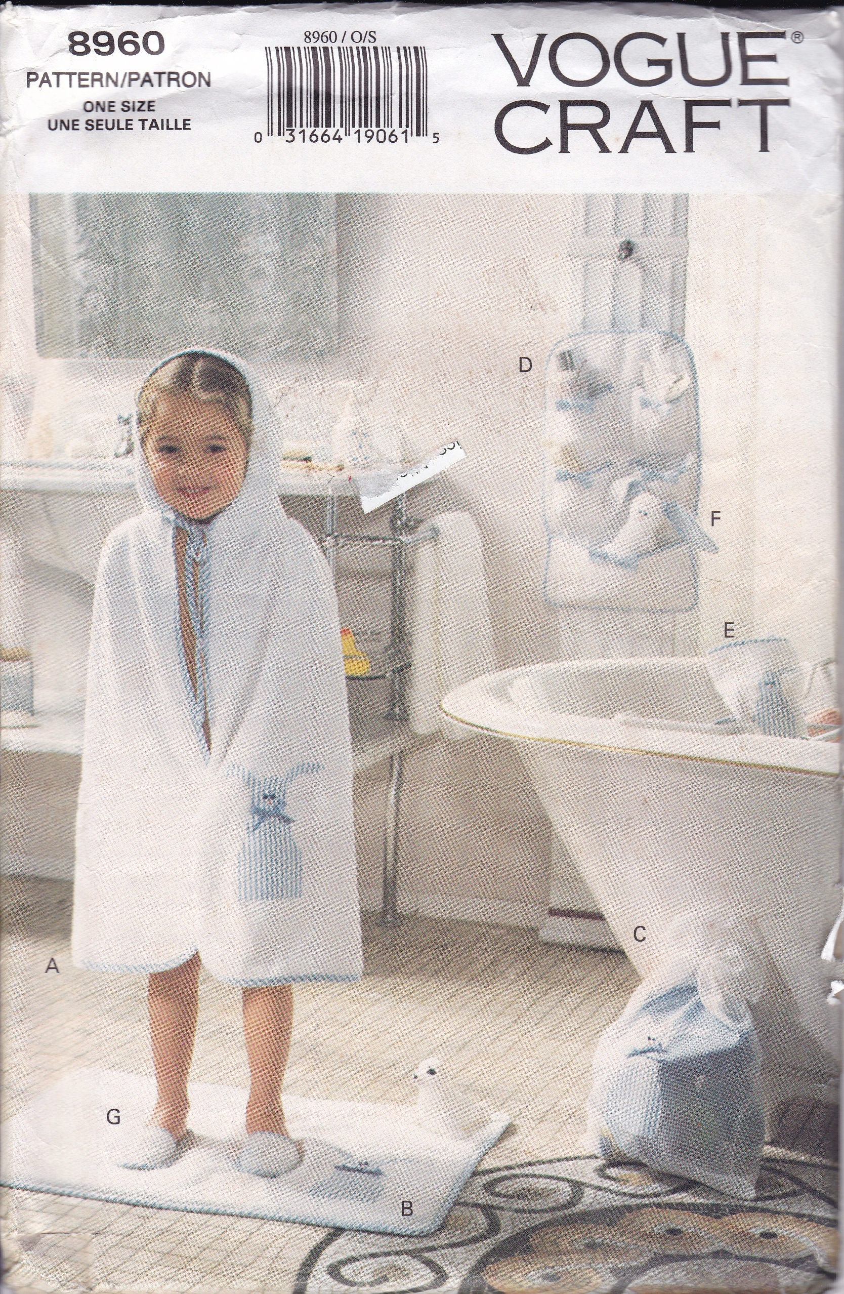 Free us ship vogue 8960 sewing pattern boy girl hooded bath towel free us ship vogue 8960 sewing pattern boy girl hooded bath towel matt wash mitt bag drawstring organizer for toys uncut retro 1990s 90s jeuxipadfo Choice Image