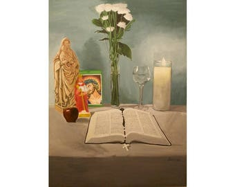 El Altar de Mami - Puerto Rican Art Limited Edition Giclee Prints
