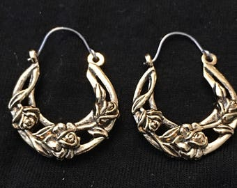 Avon Rosette Hoop Earrings