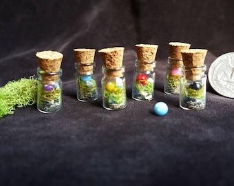 Micro Fairy Garden pendants./Fairy birthday party favor/Wedding favor