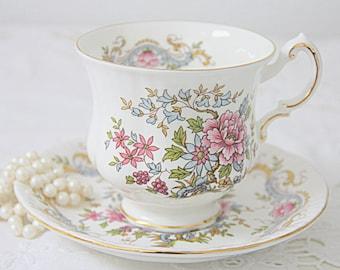Vintage Royal Standard 'Mandarin' Bone China Cup and Saucer, Gentleman Size, England