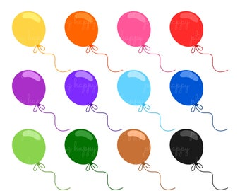 70% OFF Flying Balloon Cliparts, Flying Balloon Clipart Graphics, Personal & Small Commercial Use, Instant Download