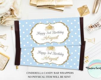 Cinderella Candy Bar Wrappers, Cinderella Labels Printable, Princess Birthday Party, Cinderella Party Supplies, Princess Decor, Digital File