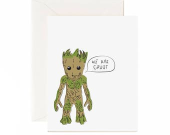 "Anniversary ""We Are Groot"" Greeting Card"