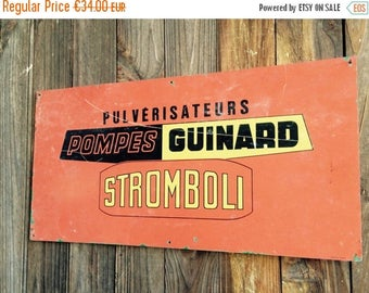 ON SALE Advertising Sign//Signs//Metal Signs//Industrial Sign//French Signs//French Vintage//Metal Signage//Found And Flogged