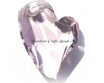 Swarovski ROSALINE 6261 17mm Devoted 2 U Heart Pendant 1 Pc - Swarovski Crystal Elements Beads