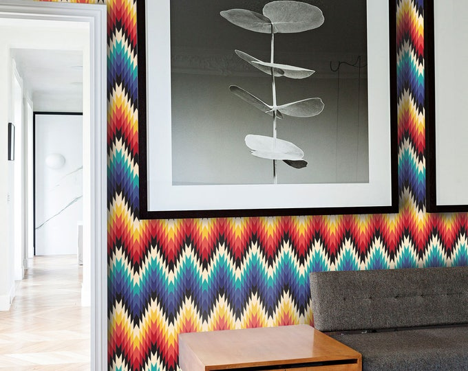 Aztec Wallpaper - Geometric Wallpaper - Missoni Inspired Wallpaper