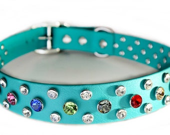 50% Discount, Swarovski Crystal Dog Collar, Discontinued,  Bling Big Dog Collar , Comfy, Durable, Secure & Waterproof Crystal Bling