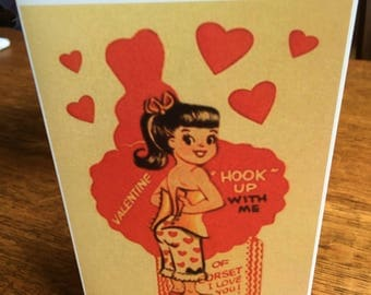 Retro Style Valentine's Card - Hook Up