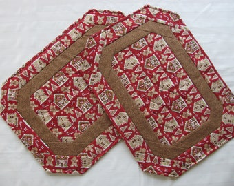Placemats-Gingerbread House/ setof 2