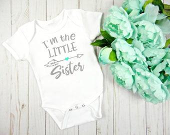 Little Sister Onesie, Baby Girl Onesie, Baby Clothing