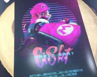 Mario Kart 8: Retro - Mario | Poster (8.5 x 11)