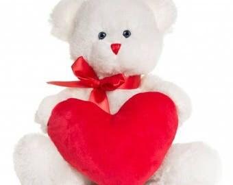 Teddy bear with heart Valentine's day,