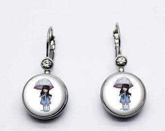 gorjuss umbrella doll earrings