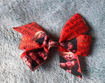 Small Orange Character Halloween Horror Witches Hocus Pocus Pinwheel Hair Bow