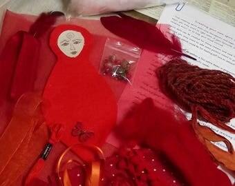 Spirit doll kit,goddess kit,sew your own Goddess kit,sew your own spirit doll,DIY art doll,DIY spirit doll,fibre art kit,sewing kit,pagan