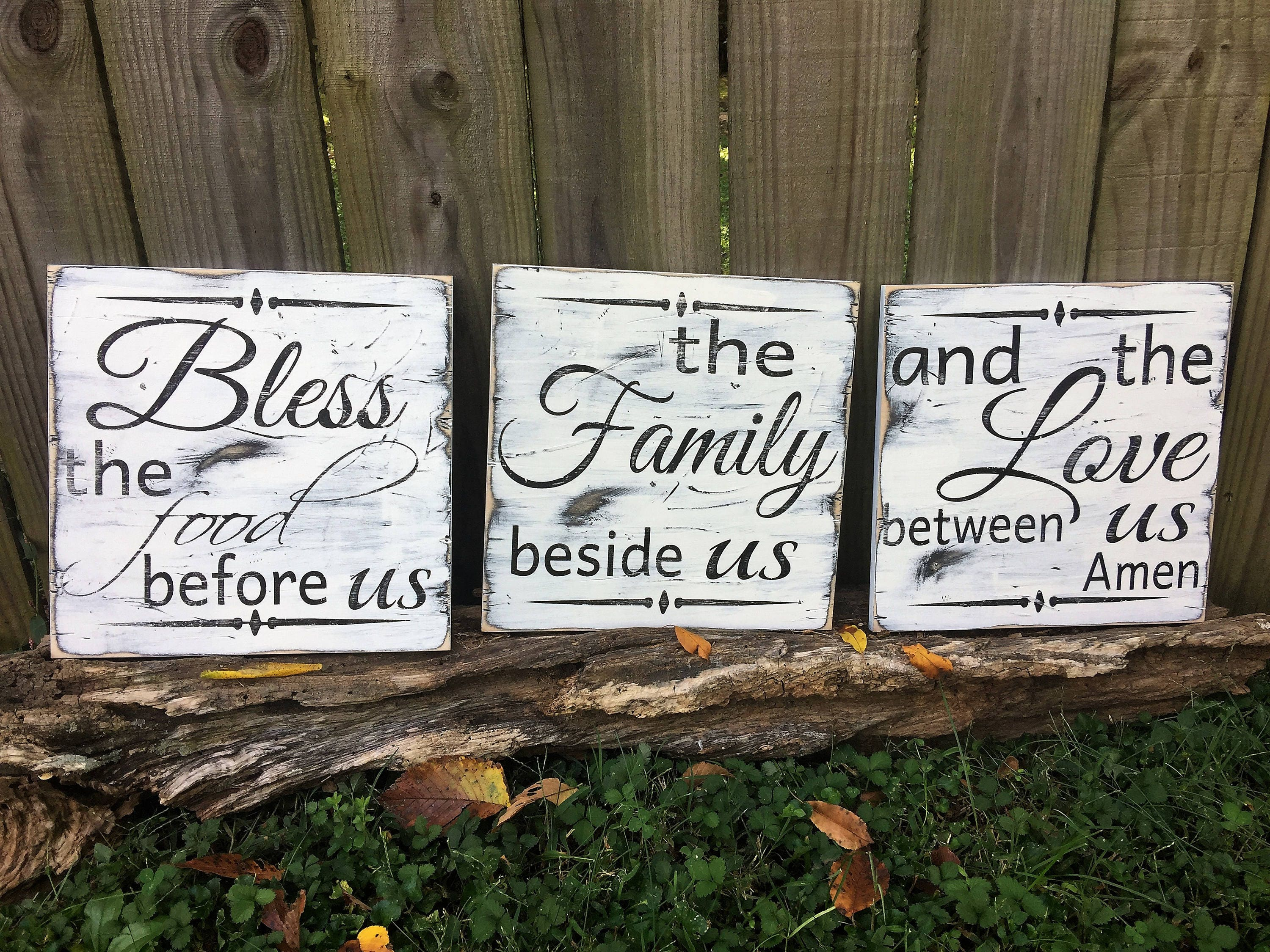 Bless The Food Before Us/Kitchen Sign/Dining Room Pray Sign/Wood Kitchen  Sign/housewarming Gift/wedding Gift/ Wood Sign/dining Room Decor