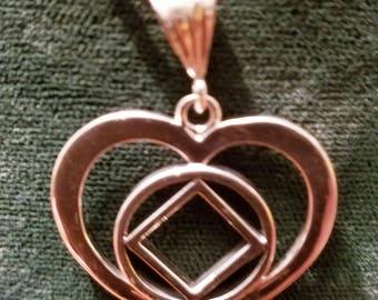 ssj016- Large Heart w/  Service Symbol