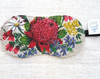 Eye mask, Sleeping mask, Australian flower eye mask, Floral eye mask, Wildflower eye mask, Relaxation mask, Flight mask, Handmade eye cover