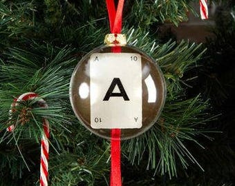 Vintage Playing Card Initial Christmas Bauble by Vintage Playing Cards FREE UK SHIPPING!