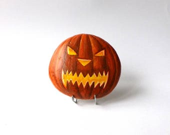 """Painted roller """"halloween pumpkin"""" angry"""