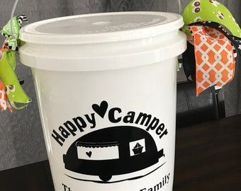 Happy Camper Bucket with Waterproof Led Color Changing Lights