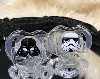 Stormtrooper and Darth Vader Avent Baby Pacifier