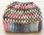 Messy bun beanie, ponytail hat, Claire Bun Beanie, crochet bun hat, crocheted beanie hat, mom hat, bun beanie