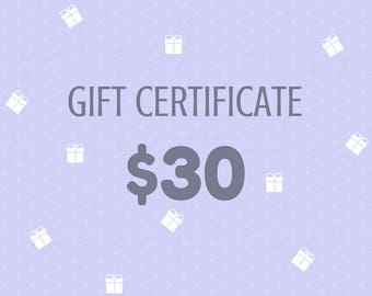 Gift Certificate 30 Dollars from Wooden Caterpillar Toys