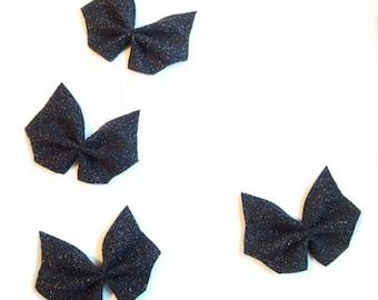 Bat bow, Halloween bow, baby halloween bow, batgirl hair bow, spooky bow, bat hair bow,  halloween bat hair bow, black bat hair bow, batgirl