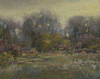 Summer's End- original pastel landscape by Michael Scotko