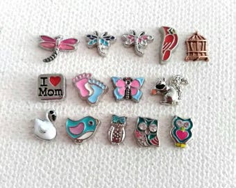 Charms for origami owl/ floating lockets