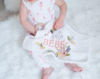 Luxe Teething Lovey - Hello Bebe | lovie blanket, wood teether, lovey blanket, baby gift, teething blanket, teether, stroller blanket